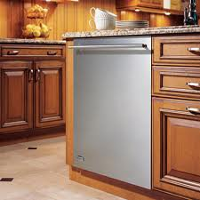 stainless steel dishwasher in kitchen